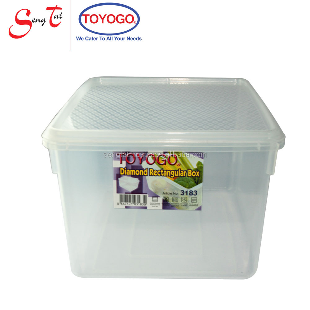 5 Litres Dishwasher, Microwave and Freezer safe Diamond Container with cover (3183)