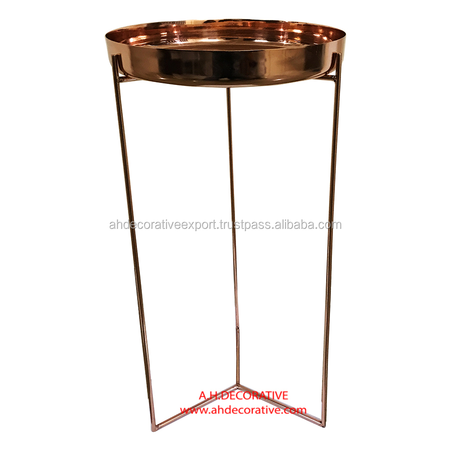 Tall Gold Tray Stand