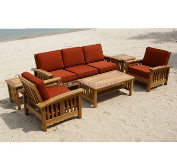 Teak wood Patio garden furniture outdooroutdoor Furniture Sofa sets