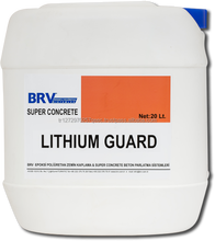 Semi-bright nano technological lithium silicate surface protection and hardener used on all concrete surfaces,