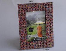 Pencil head mosaic Photo frame Available in all Photo Sizes