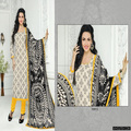 low price boutique design ladies Cambric cotton salwar kameez suit with chiffon dupatta