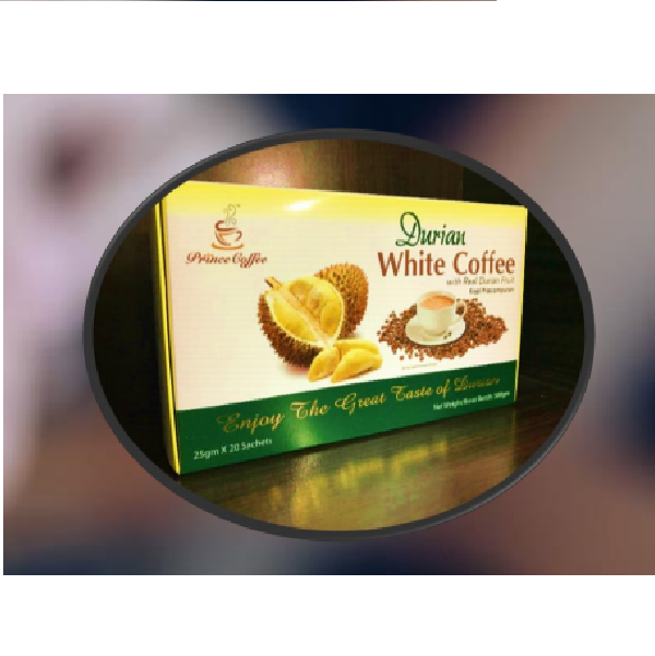 Prince Durian White Coffee blended with Arabica Coffee extract