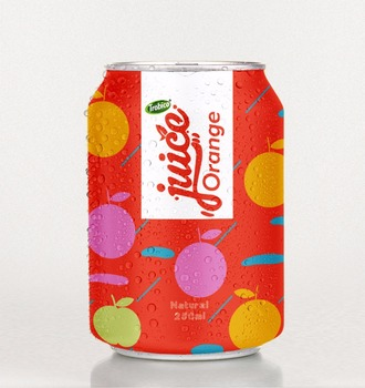 Special Orange juice drink 250ml short can from VietNam