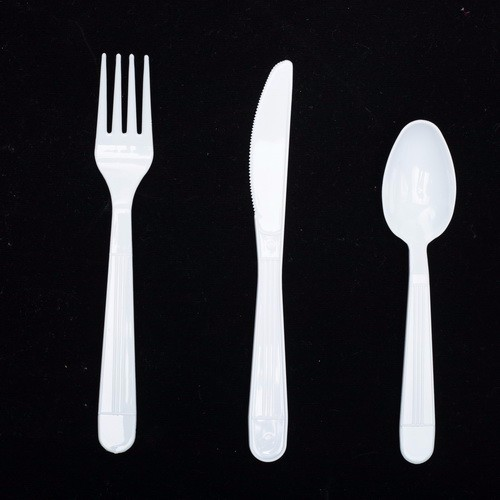 EU FDA SGS standard extra heavy weight disposable plastic cutlery sets include fork knife and spoon