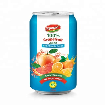 Fruit juice distributors White Grapefruit Juice with Orange flavour in canned 330ml Natural FRUIT JUICE
