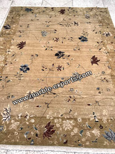 Wholesale beautiful hand knotted Wool handmade pure silk carpet from Jaipur