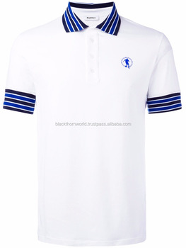 Quick Dry polo shirt with ribbed sleeves and collar, Polo t shirt lycra OEM Customer's design & logo