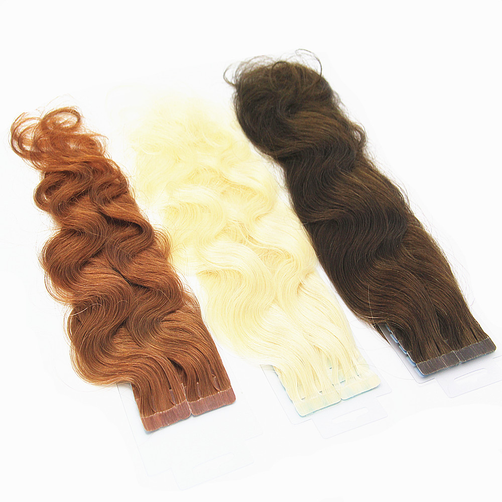 Cuticle Aligned Hair Remy Virgin Hair Grade and Human Hair Material Seamless Tape-in Extensions