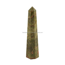 Unakite Agate Stone Obelisk Tower..wholesaler world wild