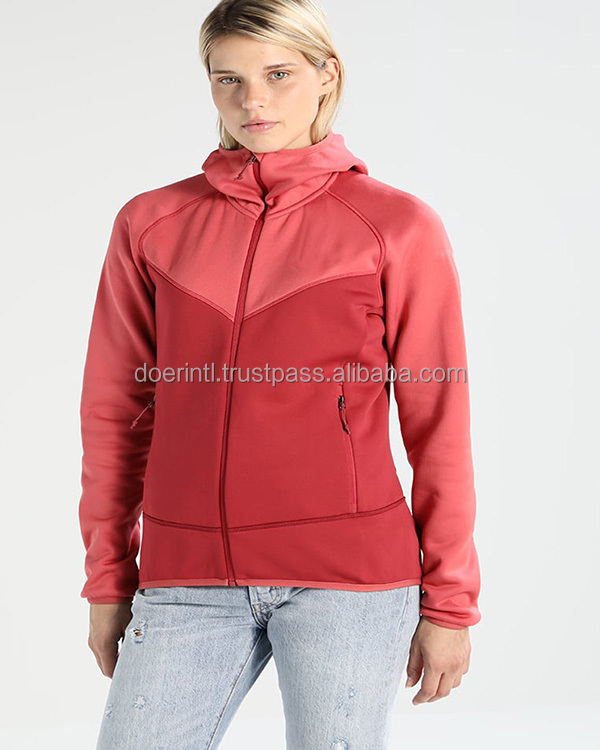 Women's Apparel Manufacturer Fleece Track Jacket 100% Polyester Ladies Sport Fitness Casual Track Jacket