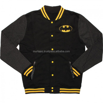 Custom Quality Plain Wool Baseball Varsity Jackets with Leather Sleeves
