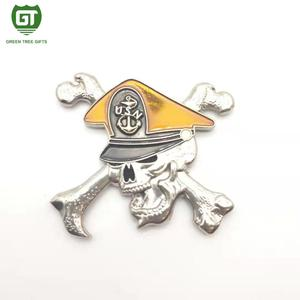 Western scared mascot style soft enamel challenge coin manufacturer in China