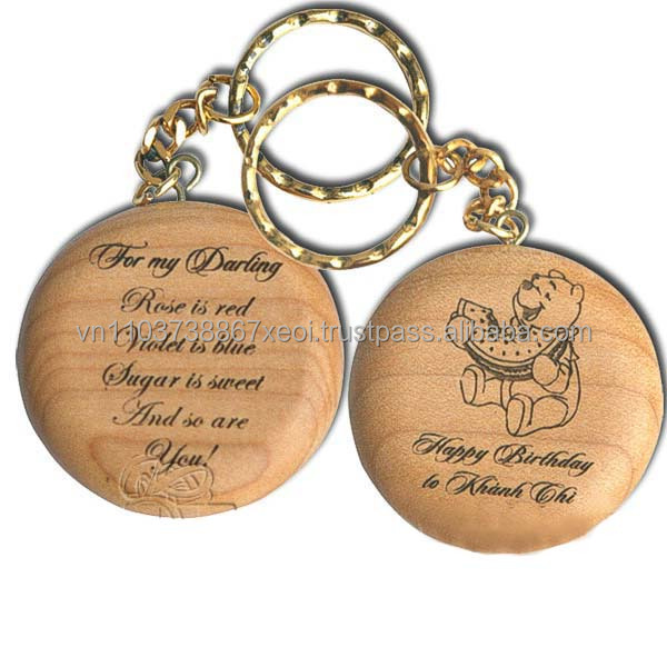 Wooden Material Key Chains (Ms.Dora)