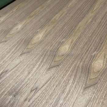 Beautiful Walnut veneered fancy plywood with super low formaldehyde emission made in Japan