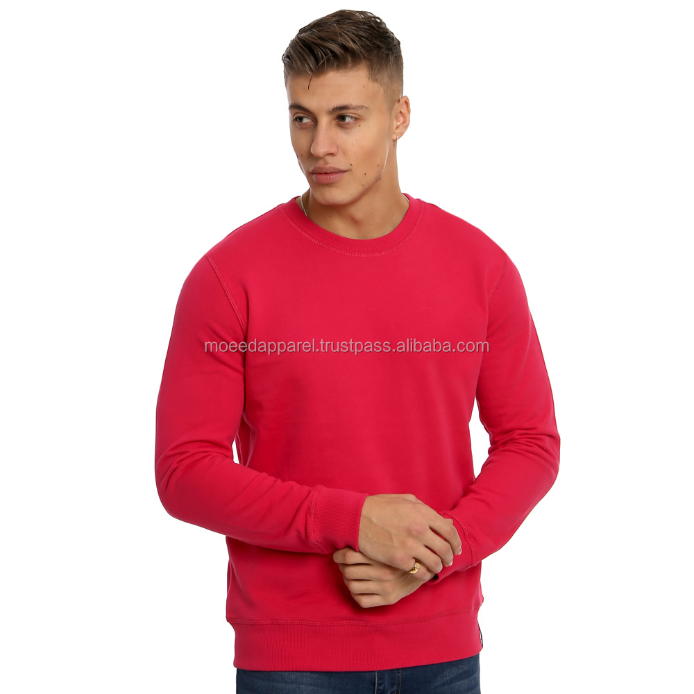 Wholesale fashion plain style cotton terry men custom hoodies and sweatshirts