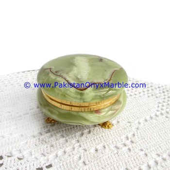 wholesaler supplier of onyx jewelry boxes round Green