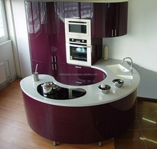 Italian luxury modern acrylic kitchen cabinet furniture