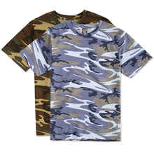 Men Cotton t shirt with camo design