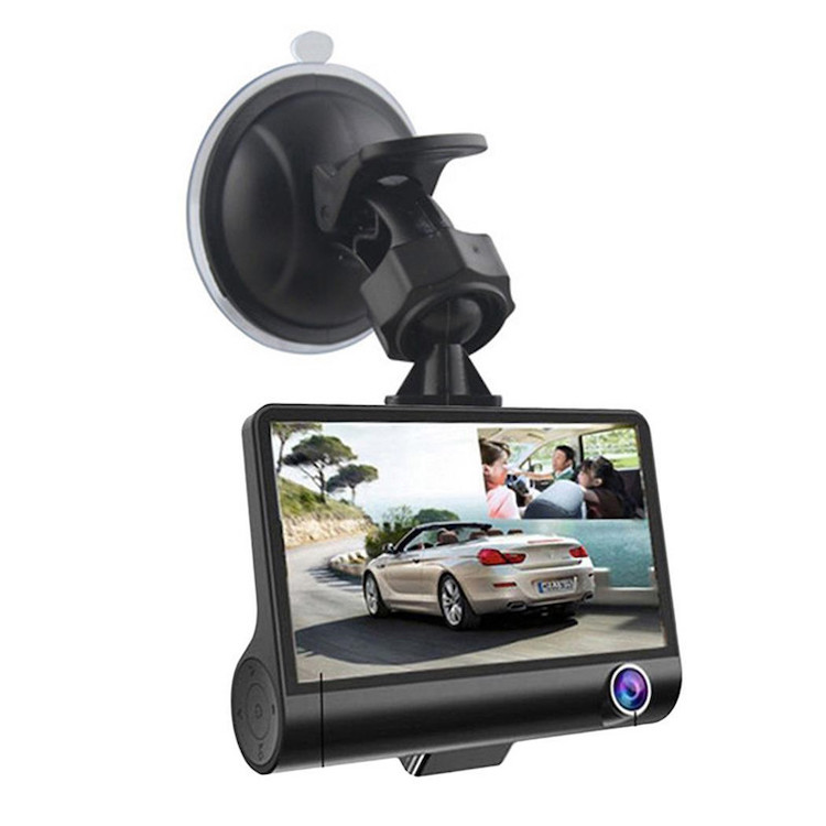Hottest 3 Lens Dash Cam 1080p with Rearview Video car camera recorder dvr avoid accident