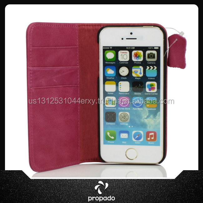 Manufacturer Leather Flip Case Wallet Cover Mobile Phone Case For Iphone 5