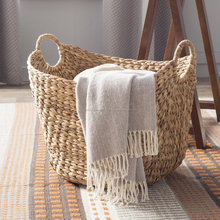 Weaving water hyacinth basket storage/straw laundry basket