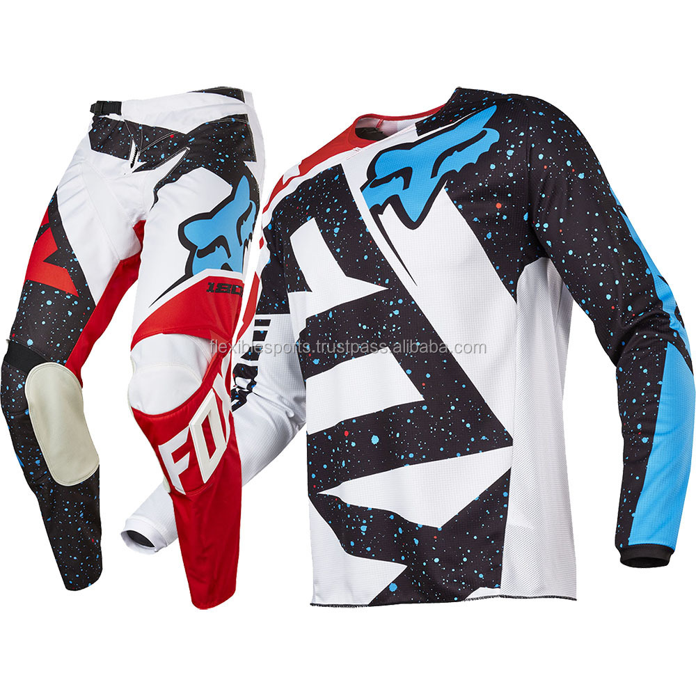 Sublimation design your own 6xl motocross jersey and pant high quality