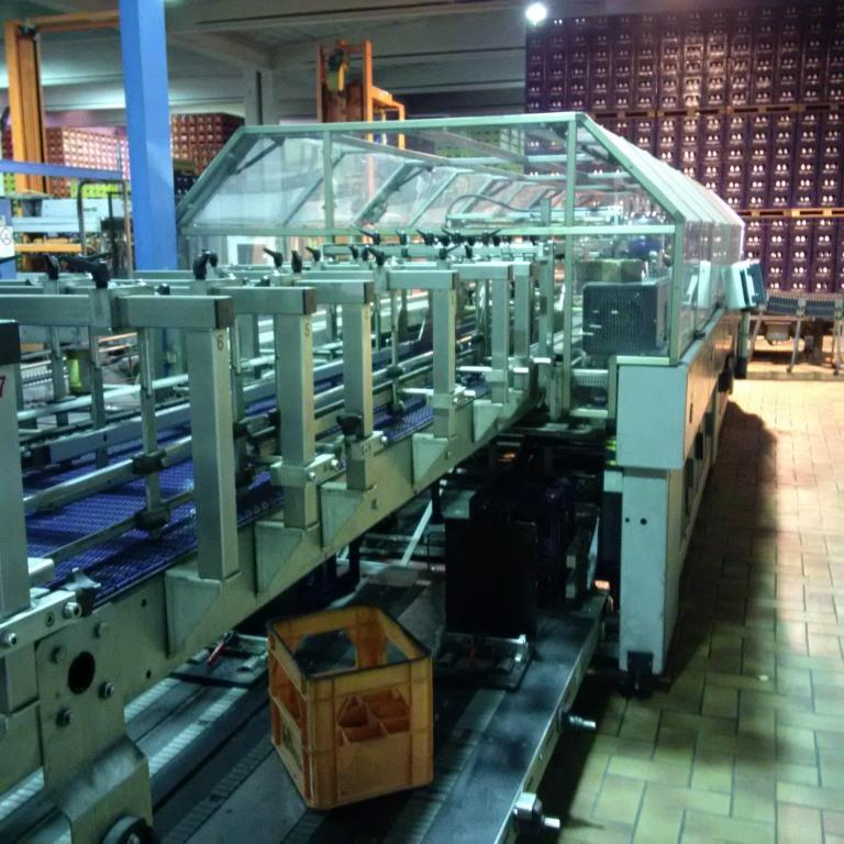 Complete second hand glass bottles filling line