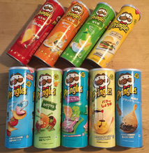 Pringles chips with other flavours and sizes