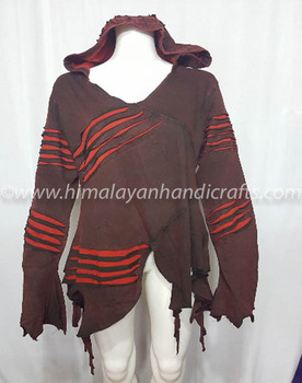 SIMPLE DESIGN WITH LINING BOHEMIAN LADIES HOODIE CSWJ 448-A