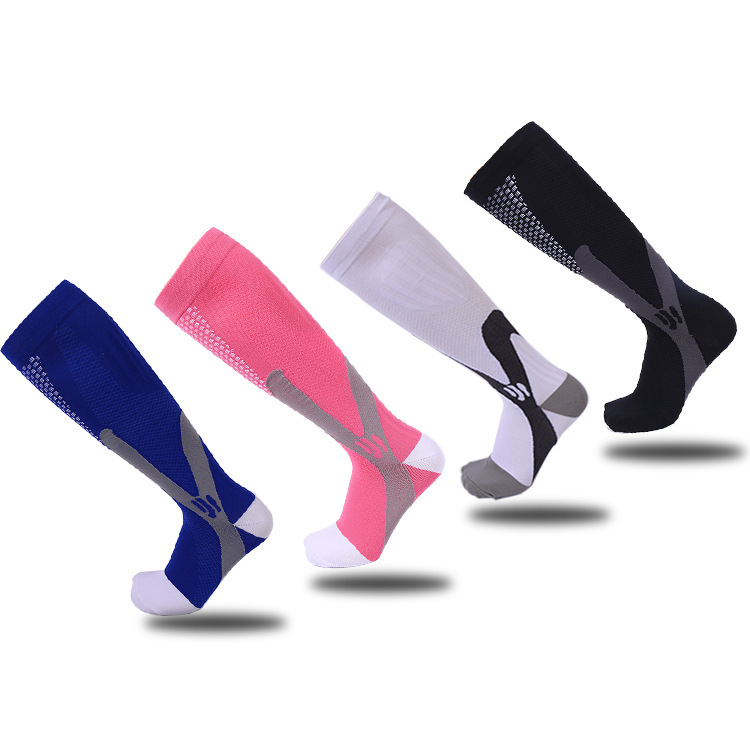 YLW001 20 - 30 mmHg Outdoor Running Sports Socks Magic Compression Socks