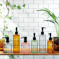 Newest transparent acrylic soap dispenser bottle for bathroom , 330ml / 500ml /340ml