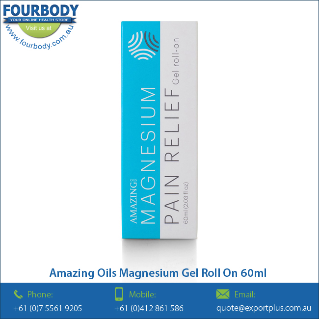 Amazing Oils Magnesium Gel Pain Relief Roll On 60ml