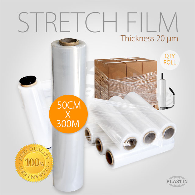 LLDPE Stretch Film 50cm x 300M / Roll