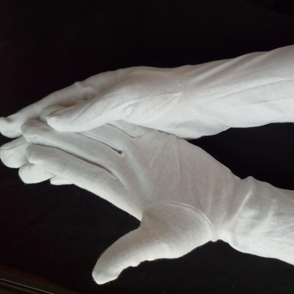 UNLINED GUANTLET length WHITE Honor Guard Gloves