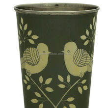 Hand painted bird steel glass indian bohemian kitchenware tableware glassware Glass unbreakable champagne pub cup