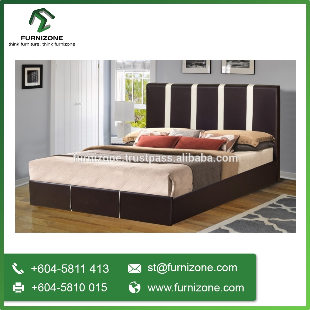Latest Modern Designs Double Bed for Bedroom Furniture Made in Malaysia (Vinc)