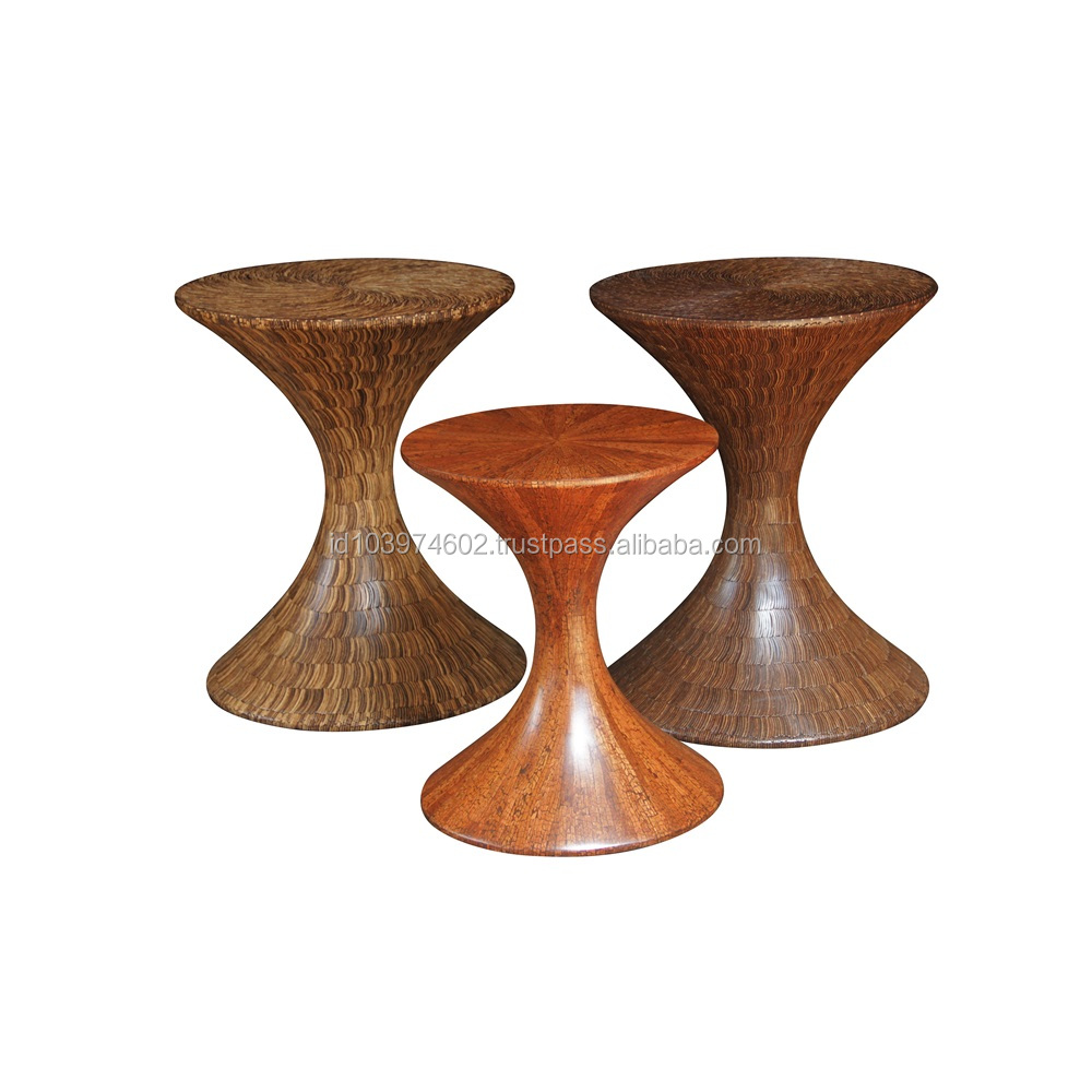 Best Craft Furniture Brown Coco Round Pedestal Table For Indoor