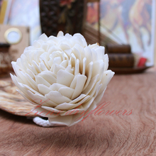 Handicraft sola Wooden flowers with cotton wick for Home fragrance