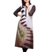 Magical Coffee Cotton Satin Kurtis.