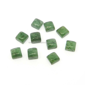 Green aventurine semi precious 5x5mm square cabochon 1.0 cts loose gemstone for jewelry