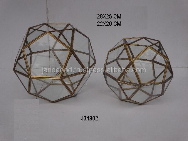 Brass and glass star shape ceiling lamp pendent lamp