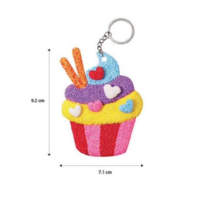 Wooden Craft Keychain DIY Paint Decorate Gift Activity for Kids