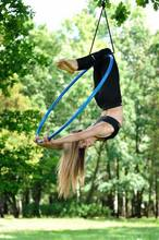 Professional Stainless Steel Aerial Yoga hoops Aerial ring used same as dance pole with yoga hammocks
