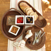 Perfect rattan charger plates and table rattan item
