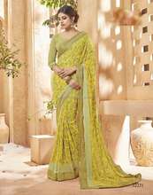 plain chiffon sarees with designer blouse