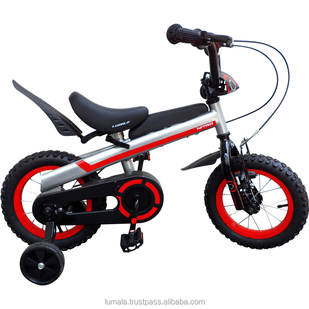 "12""/16"" Childrens BMX Bicycle with Training Wheels and front Bucket Lumala Nitro"