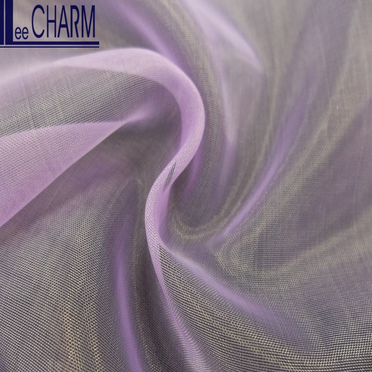 LCSH018 Wholesale Taiwan Best Price Cheap Plain Wedding Bridal Organza Fabric Roll