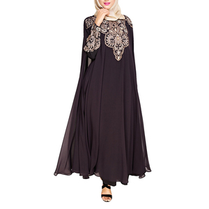 New Muslim Long Sleeve Maxi Dress Saudi Ladies Abaya