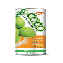 Canned Sparkling Coconut Water Factory In Can 330ml With Fruity Flavor